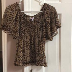 Candie's crop top blouse